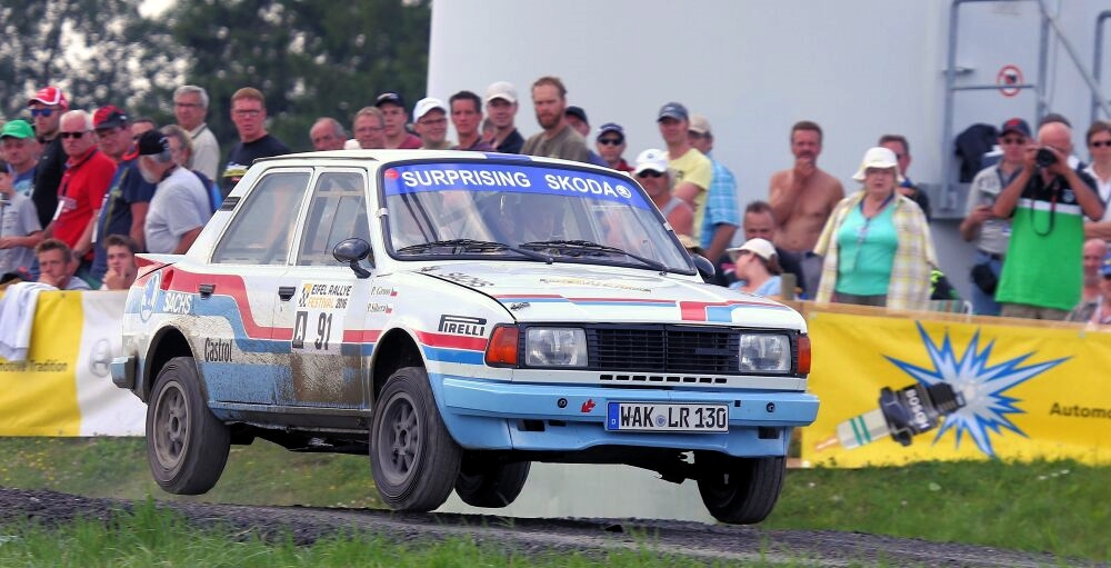 Website Skoda 130 LR Historic Rallye Team